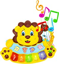 STEAM Life Educational Baby Musical Instrument Toy Piano | Lion Light Up King Piano Toy Keyboard has 5 Numbered Keys | Plays Songs and Music Memory Game (Baby Lion King Piano)