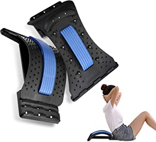 OUTERDO Back Stretcher 3 Levels, Lumbar Support Stretcher Lower Spinal Back Massager Pain Relief Device Back & Neck Stretc...