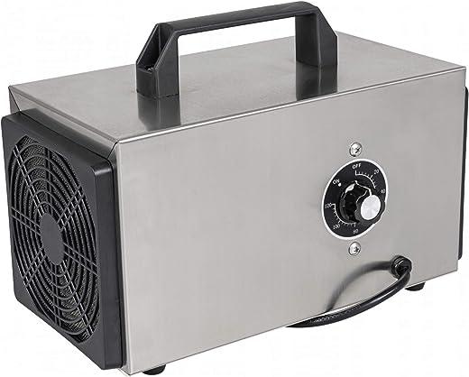 CroNOS - Generador de ozono industrial para aire, agua y alimentos (10.000 mg/h de potencia) - Flujo de aire 200 m3/h – temporizador de 120 minutos.