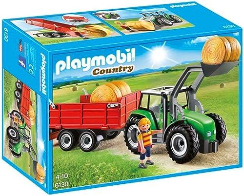 venta de ofertas Playmobil Country Tractor Tractor Tractor con Trailer, 6130  venta caliente