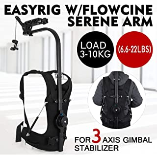 VEVOR Easy Rig Stabilizer Vest with Serene Damping Arm Camera Video Film Support System For 3 Axis Stabilized Handheld Gimbal Backpack Body Pod Stabilizer 3kg - 10kg / 6.6lb - 22lb Load Capacity