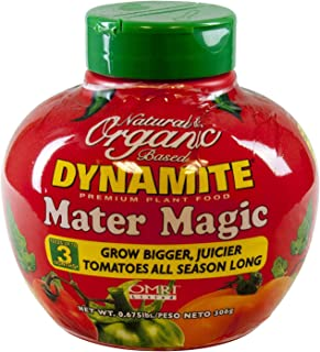 Dynamite Mater Magic Natural and Organic 8-5-5 Tomato Plants Fertilizer in a Tomato Shape Container 0.675 lbs