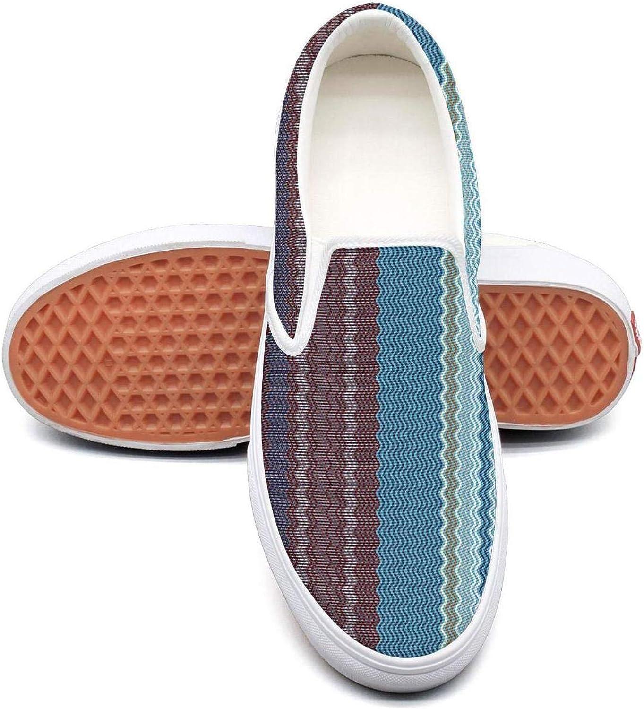 Uieort Lighweight Stripe Mens Slip On Canvas shoes Rubber Sole