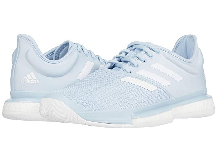 adidas  SoleCourt Primeblue (Easy Blue/Footwear White/Easy Blue) Womens Tennis Shoes