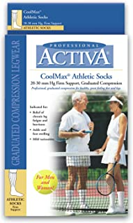 Activa Coolmax Athletic Over The Calf Socks, White, Large