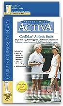 Activa Coolmax 20-30 mmHg Athletic Socks Crew, White, X-Large, 0.05 Pound