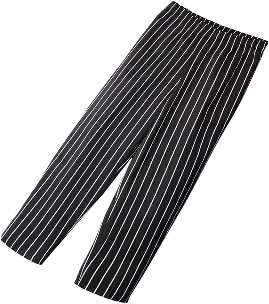 freneci Seasonal Max 63% OFF Wrap Introduction Chefs Trousers with Pockets Cotton Professional Classic