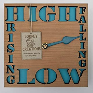 Wooden Tide clock.Made in Ireland for beach house gifts,seaside chalets,mobile homes,sailors,fisherman,surfers,dog walker,beachcombers and living life by the sea.Tide clock wall
