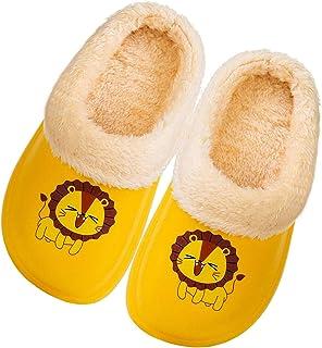 Zapatillas de Estar por Casa para Niños Niñas Invierno Zapatillas,Unisex-Niños Invierno Pelusa Forro Pantuflas Interior Ca...