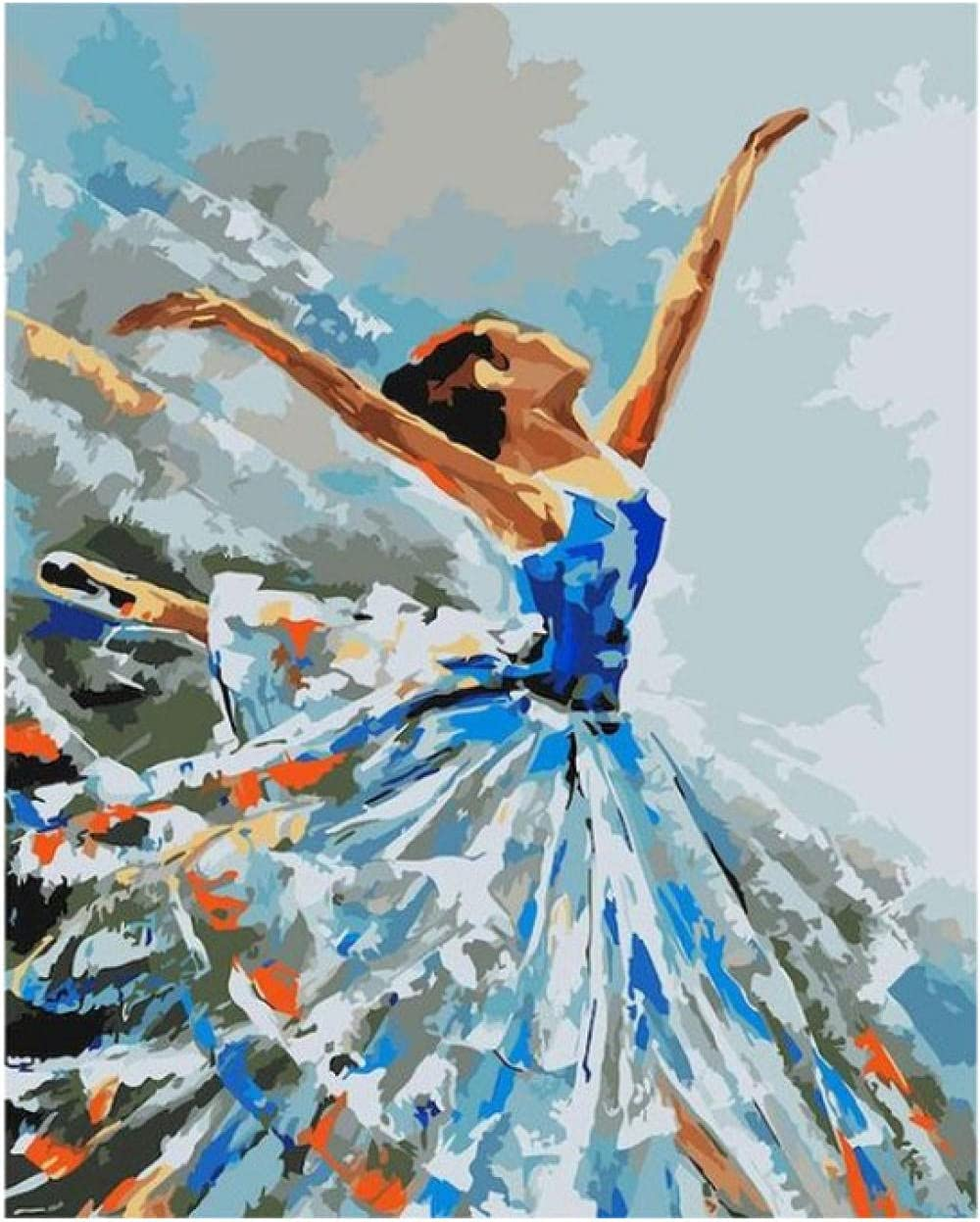 Kids Paint by Number Kits DIY Limited time for free shipping Ballerina- Regular discount Canvas Numbers