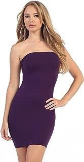 Kurve Strapless Stretchy Comfort Mini Sexy Tube Dress (XS/M, M/L, L/XL, XL/XXL) -Made in USA-