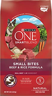 Purina ONE SmartBlend Natural Adult Beef & Rice Small Bites Dry Dog Food