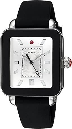 Michele Deco Sport Black Silicone Watch