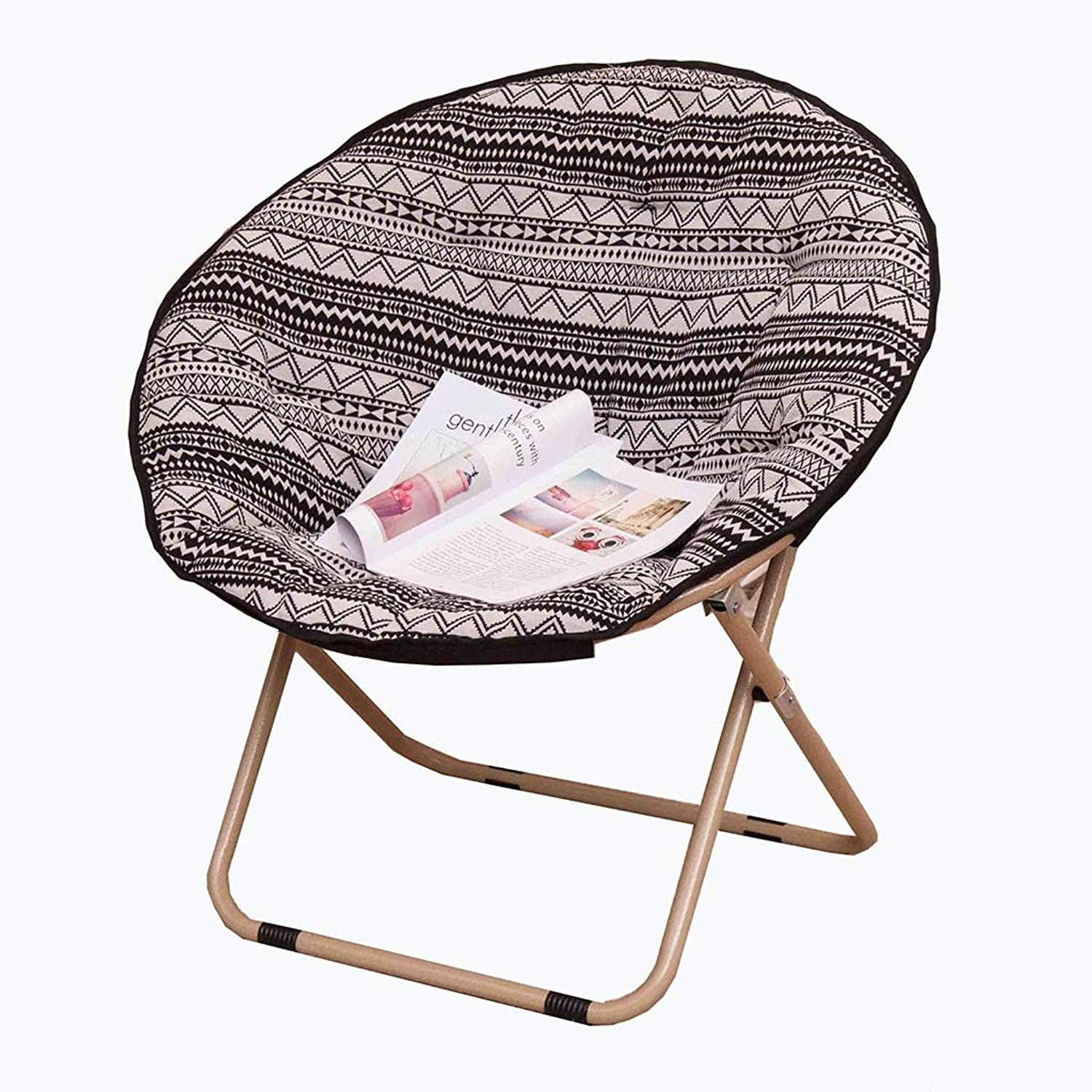 YD Lazy Chair - Recliner Balcony Adult Moon Chair Large Foldable Moon Chair No Footstool (color   D)