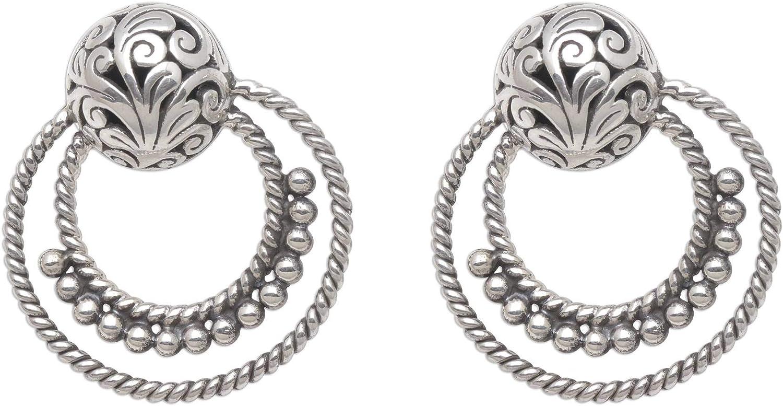 Novica Goddess Rings San Jose Mall Sterling 5 ☆ very popular Silver Drop Earrings For Wom Girls
