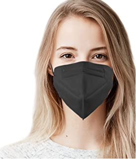 5 Layer Protection Breathable Face Mask (Obsidian Black) - Made in USA - Filtration>95% with Comfortable Elastic Ear Loop ...