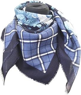 tessago foulard dis 927412 lana 100% misura cm 90 X 90 var blu