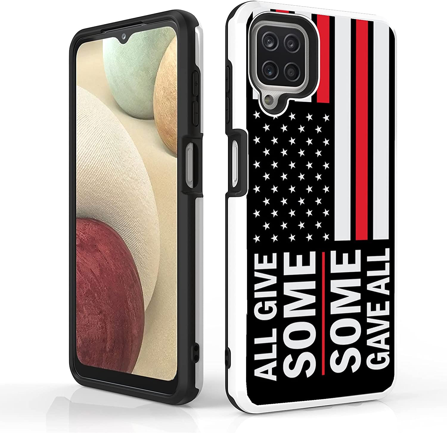"""BEYOND CELL Slim Dual Layer Case Compatible with Samsung Galaxy A12 (6.5""""), Hybrid Slim Shockproof Phone Case, Flexible TPU PC Plastic Back Cover."""
