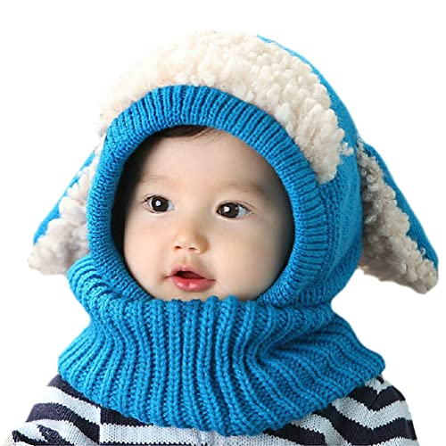 YSense 2 Pack Baby Boy Girl Winter Warm Fleece Lined Hat Infant Toddler Kid  Crochet Hairball 8abe6d5d7b1a