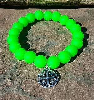 Neon Green Silcone Bracelet Bella Cuff not Rustic Cuff Catherine