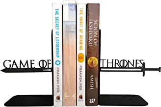 HeavenlyKraft Decorative Metal Bookend, Non Skid Book End, Book Stopper for Home/Office Decor/Shelves, 5.9 X 3.9 X 3.14 Inch Per Piece
