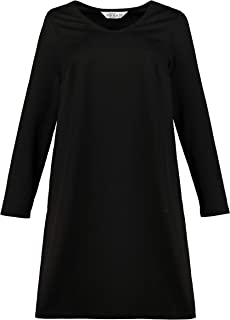Studio Untold Women's Plus Size Check Texture Stretch Knit Dress 725127