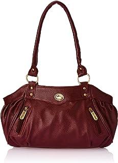 Fostelo Women's Swann Handbag (Maroon) (FSB-101)