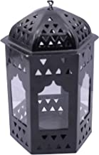 Decorate India Black Color Iron Lantern T Light Candle Holder 16 cm Height