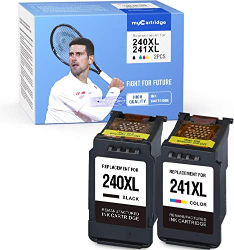 new arrival myCartridge Remanufactured Ink Cartridge Replacement for Canon outlet sale 240 240XL 241 241XL PG-240XL CL-241XL (1 Black, high quality 1 Tri-Color, 2-Pack) online sale