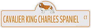 Cavalier King Charles Spaniel Street Sign | Indoor/Outdoor | Dog Lover Funny Home Décor for Garages, Living Rooms, Bedroom, Offices | SignMission personalized gift | 20