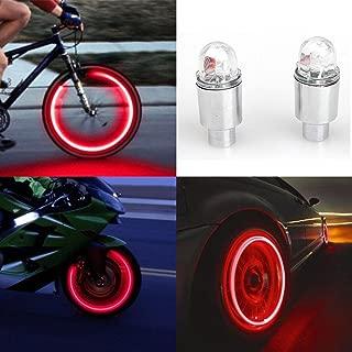 FENSIN 8pcs Lumi/ères de Roue de Bicyclette de Voiture LED Lampe de Roue de Valve de Pneu de Moto de Moteur de Voiture LED de Lumi/ère V/élo