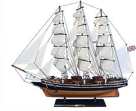 Hampton Nautical Wooden Cutty Sark Tall Model Clipper Ship, 30