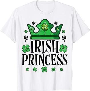 Irish Princess St Patricks Day Women Girls Kids Shamrock T-Shirt