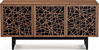 BDI 8777 RC-ME-WL Elements Triple Wide Cabinet with Media Base, Ricochet Doors, Natural Walnut