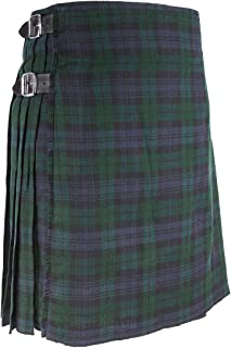 Men's Traditional Scottish 5 Yard Black Watch Tartan Kilt