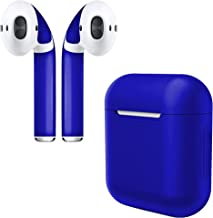 APSkins Silicone Case and Stylish Skins Compatible with Apple AirPod Accessories (Admiral Blue Case & Skin)
