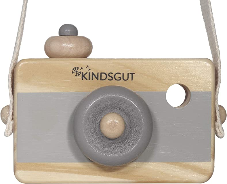 Kindsgut cámara de Madera Juguete Madera cámara fotográfica Gris Oscuro
