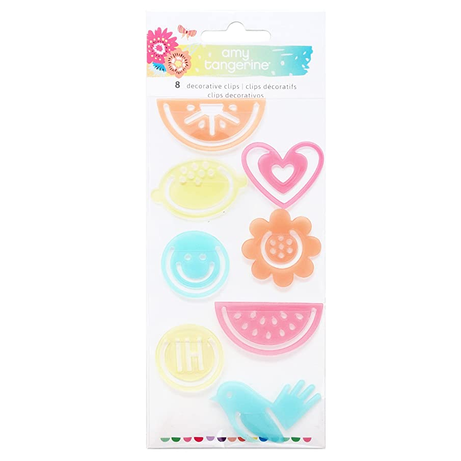 Amy Tan 8 Piece Paper Clips Sunshine & Good Times Embellishment