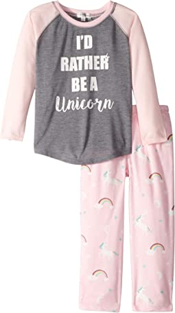 I'd Rather Be A Unicorn PJ Set (Toddler/Little Kids/Big Kids)