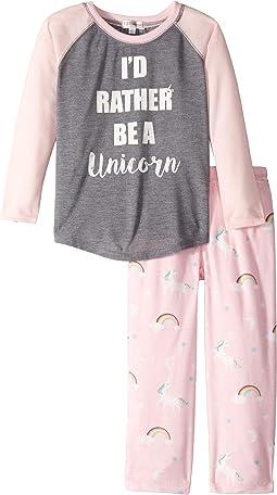 I'd Rather Be A Unicorn PJ Set (Toddler/Little Kids/Big Kids)