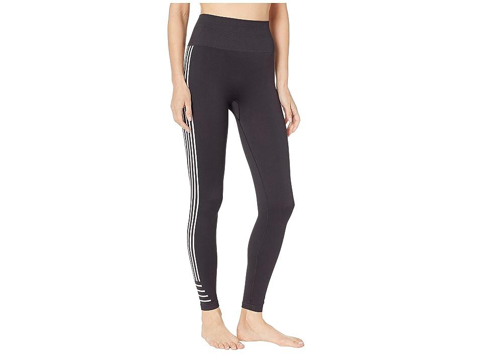 Champion Seamless 7/8 Striped Tights (Black) Women