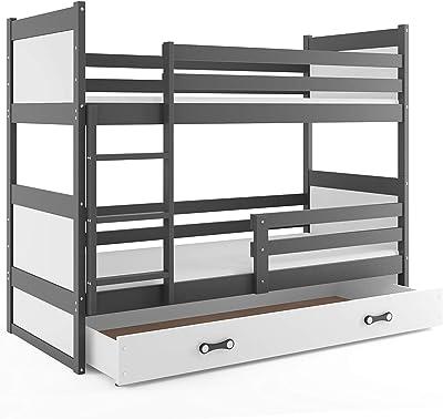 Litera infantil doble (2 camas) 190x90, RICO, color gris ...