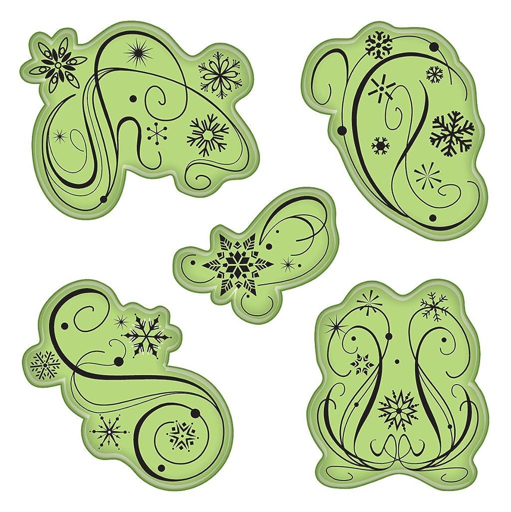 Inkadinkado Stamping Gear Cling Stamps, Winter Swirls
