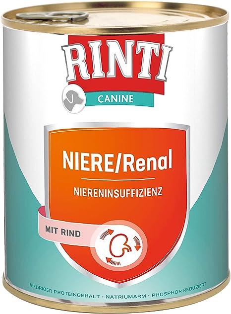 RINTI Canine Riñón/renal Vacuno, 6 Pack (6 x 800 g)
