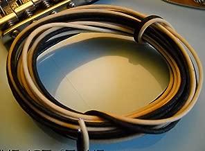 20 Feet (10 White/10 Black) Gavitt Cloth-covered Pre-tinned Pushback 22awg Vintage-style Guitar Wire