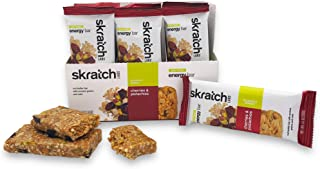 SKRATCH LABS Anytime Energy Bar, Cherries and Pistachios, (12 pack single serving) Low Sugar, Gluten Free, Vegan, Kosher, ...