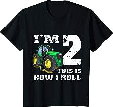 Kids I'm 2 Farm Barnyard Tractor 2nd Birthday Party gift T-Shirt
