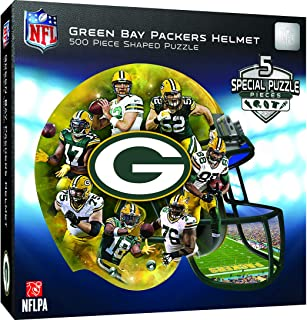 MasterPieces NFL Green Bay Packers 500 Piece Helmet Shaped Puzzle