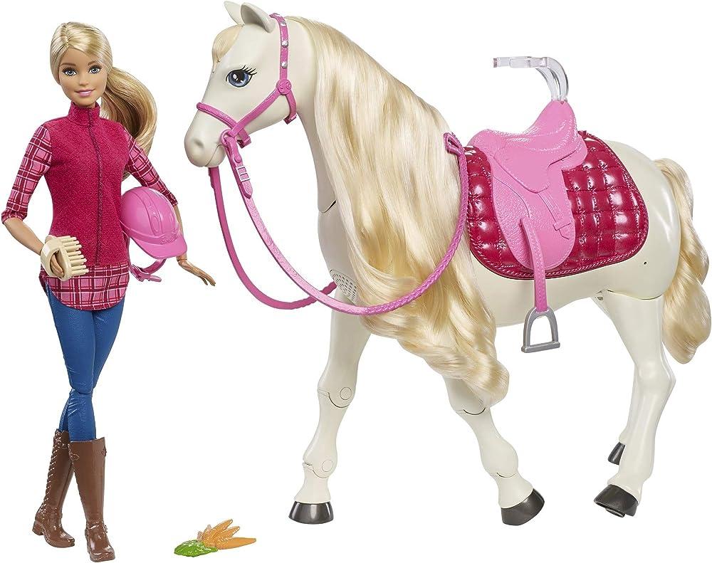 Barbie cavallo dei sogni, cammina, risponde alle azioni e al tocco FRV36