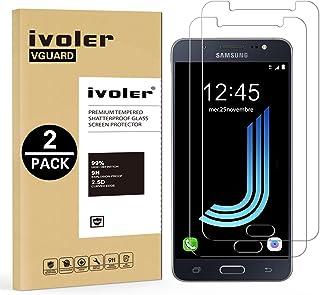 iVoler [2 Unidades] Protector de Pantalla Compatible con Samsung Galaxy J5 2016, Cristal Vidrio Templado Premium [9H Dureza] [Ultra Fina 0,3mm] [2.5D Round Edge]
